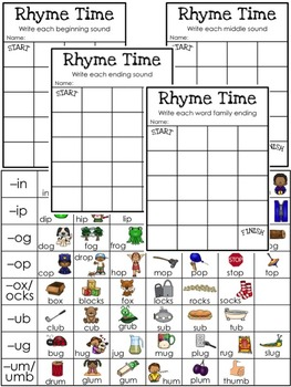 Rhyme Time Sound Mazes: sounding out and segmenting