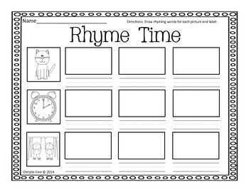 Rhyme Time Spiders -at, -ock, -ing