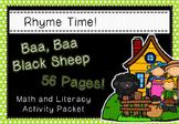 LRhyme Time - Baa Baa Black Sheep - Nursery Rhyme Math & Literacy Act