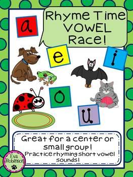 Rhyme Time VOWEL Race- Short Vowel FREEBIE!!