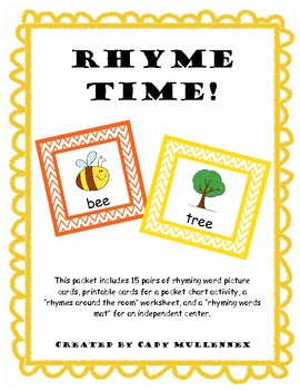 Rhyme Time -- Versatile Picture Cards and Activities