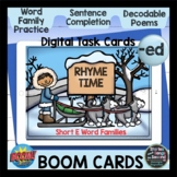 Rhyme Time Boom Cards for Short E {-ed} | Digital Activiti