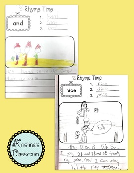 Rhyme Time Word Work for Literacy Centres