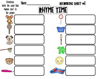Rhyme Time Write the room