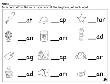 Rhyming and Beginning Sound Word Practice