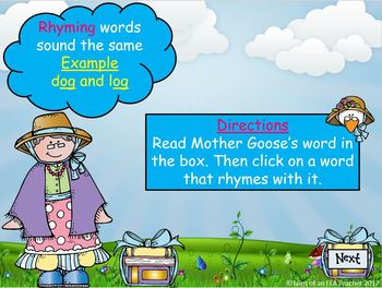 Rhyme Time with Mother Goose ~ Interactive PowerPoint Game