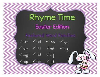 Rhyme Time with Word Families: Easter Edition
