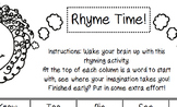 Rhyme Time word activity