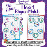 Rhyme - Valentine Themed File Folder Activities