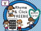 Rhyme and Click BOOM Cards FREEBIE