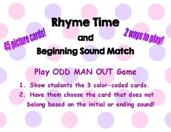 Rhyme and Ending Sound Match
