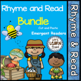 Rhyme & Read Themed Cut & Paste Activities Books Emergent Reader Bundle