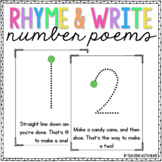 Number Writing Poem Posters