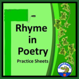 Rhyme in Poetry Practice Sheet