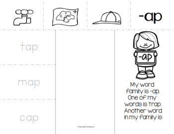 Rhyming practice - interactive tri-fold or printable format