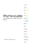 Rhyme puzzle