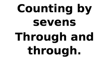 Rhyme to Skip Count by Sevens!