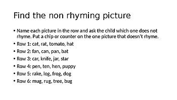 Rhymes/Non-Rhymes