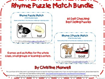 Rhymes Puzzle Match Bundle-60 Matches