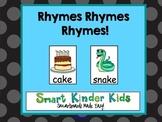 Rhymes Rhymes Rhymes!  Smartboards Made Easy!