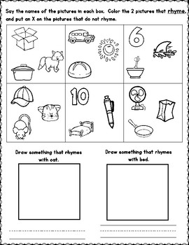 Rhyming Worksheets by Bilingual Teacher World | Teachers ...
