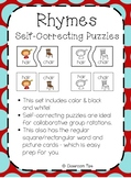 Rhymes: Self-Correcting Puzzles (Color & BW) -- Over 50 Rhyming Pairs