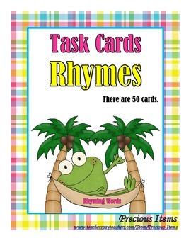 Rhymes - Task Cards