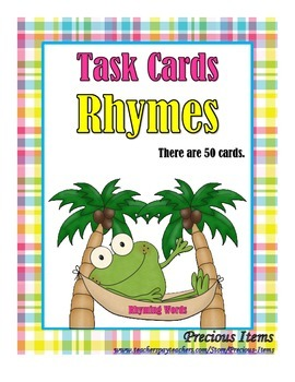 Rhymes - Task Cards