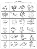 Rhymes Worksheets packet for PreK-1