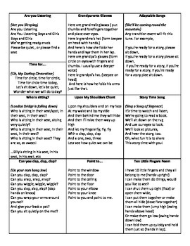 Rhymes and tricks to quiet students down on carpet and in line