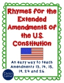 Rhymes for the extended amendments of the US Constitution-