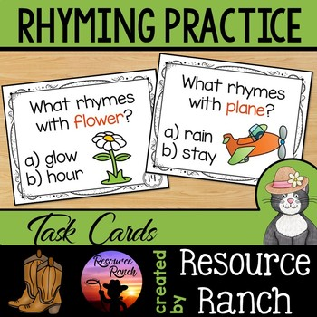 Rhyming Activity Task Cards
