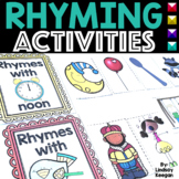 Rhyming Worksheets and Activities