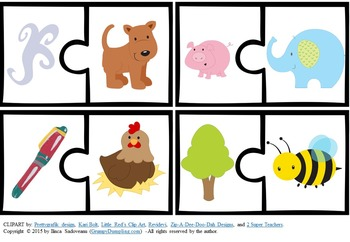 Rhyming 2 Piece Puzzles