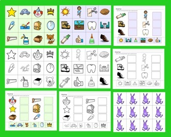 Rhyming: Matching & Cut and Glue Activities