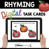 Rhyming Boom Cards™ kindergarten back to school phonemic a