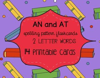 Rhyming AN & AT Flashcards