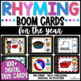 Rhyming Words Boom Cards Bundle For the Year