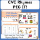 Rhyming Activities: Peg It Cards and CVC Charts - Reading Fundamentals (SASSOON)