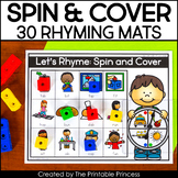 Rhyming Activities | Spin and Cover