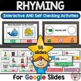 Rhyming  Activities for Google Slides™