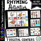 Rhyming Activities - Paperless Centers for Google Classroom Activities Use