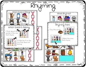 Rhyming Activities - Paperless Phonics Centers