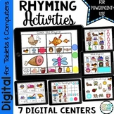 Digital Rhyming Activities for Kindergarten for PowerPoint