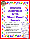 Rhyming Activities with Short Vowel Sounds