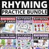 Rhyming Activities Bundle for Preschool Pre K and Kindergarten