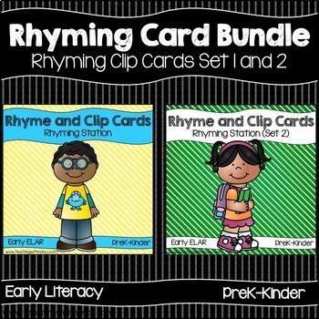 Rhyming Activity Cards Bundle (Set 1 and Set 2)