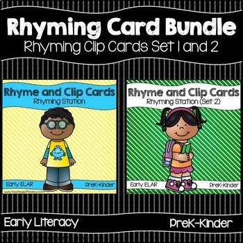 Rhyming Activity Cards Bundle (Set 1 and Set 2)