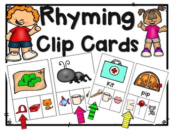 Rhyming Activity: Clip Cards