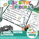 Nursery Rhyme Activities for Itsy Bitsy Spider
